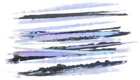 抽象 抽象画笔对跟踪的被绘的实际冲程纹理是 库存图片