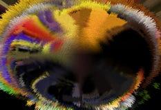 抽象 摘要 绘画 照片 纹理 织地不很细 唯一性 抽象 深奥 纹理 五颜六色 颜色 Grap 库存例证