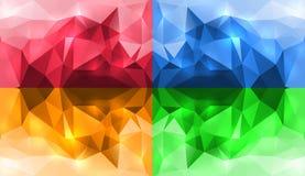 抽象水晶墙纸 向量例证