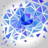 抽象水晶多角形背景 向量 库存图片