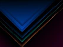 抽象黑暗的报告盖子模板设计 免版税库存图片
