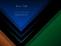 抽象黑暗的报告盖子模板设计 免版税库存照片