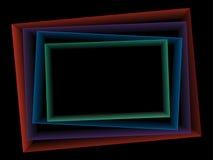 抽象黑暗的报告盖子模板设计 库存照片