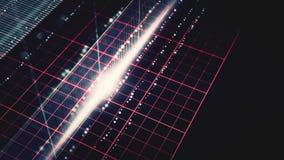 抽象黑暗的网格线动画 影视素材