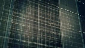 抽象黑暗的网格线和小点动画 股票视频