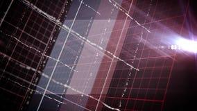 抽象黑暗的网格线和小点动画 股票录像