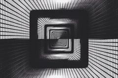 抽象黑暗的隧道 免版税库存照片
