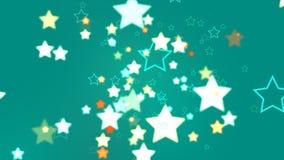 抽象绿松石星  免版税库存照片