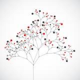 抽象结构树 向量背景 免版税库存照片