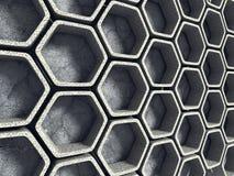 抽象结构背景 水泥六角形墙壁 免版税库存照片