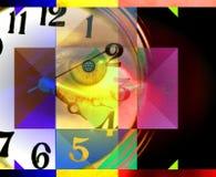抽象派概念人时间 库存照片