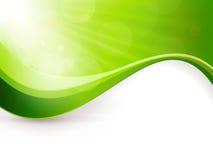 抽象绿灯爆炸背景 免版税库存照片