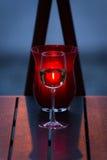 抽象玻璃图象酒 库存照片