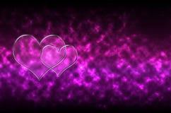 抽象玻璃心脏样式背景 免版税库存图片