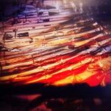 抽象玻璃自然背景 免版税图库摄影
