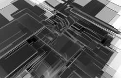 抽象玻璃飞行背景 库存图片