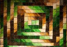 抽象玻璃马赛克背景绿色褐色口气 免版税库存图片
