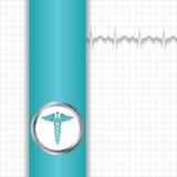 抽象医疗背景的传染媒介例证 向量例证