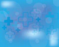 抽象医疗背景的传染媒介例证 免版税图库摄影