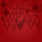 抽象医疗背景的传染媒介例证 免版税库存图片