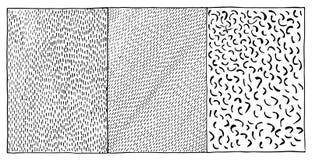 抽象黑白单色墨水冲程纹理背景传染媒介 库存照片