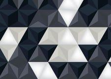抽象黑白多角形背景 免版税库存图片