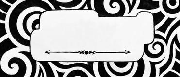 抽象黑白空白的标志或信封设计 免版税库存照片