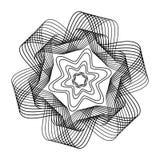 抽象黑白背景 EPS10 免版税图库摄影