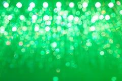 抽象轻的圆绿色bokeh背景 图库摄影