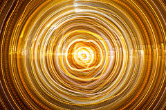 抽象轻的隧道 免版税库存图片