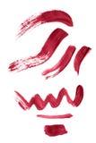 抽象画笔对跟踪的被绘的实际冲程纹理是 免版税图库摄影