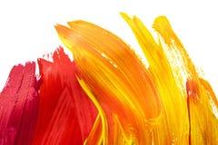 抽象画笔对跟踪的被绘的实际冲程纹理是 图库摄影