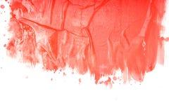 抽象画笔对跟踪的被绘的实际冲程纹理是 免版税库存图片