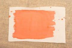 抽象画笔对跟踪的被绘的实际冲程纹理是 库存照片
