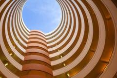 抽象建筑学圈子 免版税库存图片