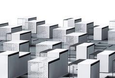 抽象建筑学纹理 免版税库存图片