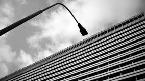 抽象建筑看法 建筑学细节和片段 免版税库存图片
