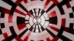 抽象黑红色白色圆的背景 库存照片