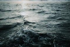 抽象水纹理背景 被反射的星期日水 库存图片