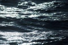 抽象水纹理背景 被反射的星期日水 免版税库存照片