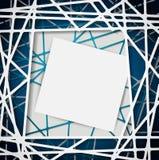 抽象直线有您的文本的白纸背景 库存照片