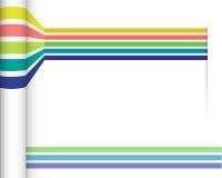 抽象直线有您的文本的白纸背景 免版税库存图片