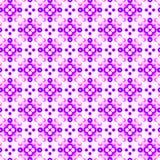 抽象紫罗兰色和桃红色瓦片样式 紫色镶嵌构造背景 无缝例证的绳索 向量例证