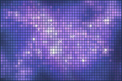 抽象紫罗兰色闪耀的马赛克 免版税库存照片