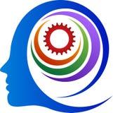 抽象头脑齿轮 向量例证