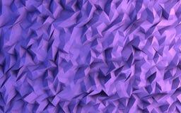 抽象紫色三角几何背景例证 免版税库存图片