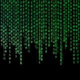 抽象绿色二进制编码 免版税库存图片