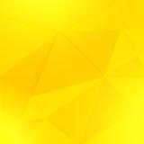 抽象黄色几何纸背景 库存例证