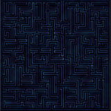 抽象紫色发光的labirinth 免版税库存照片