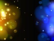 抽象黄色和蓝色轻的传染媒介背景 免版税图库摄影